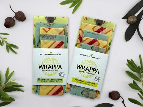 Wrappa Reusable Beeswax wrap Aussie Sandwich pack