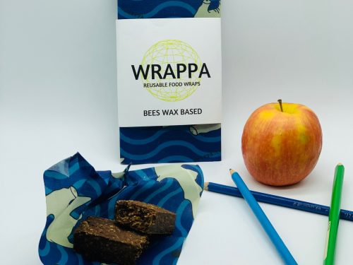 Wrappa Reusable Beeswax wrap Hammerhead Snack pack